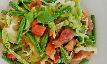 Pork Stir Fry with Green Beans and Cabbage