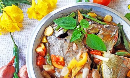 Steamed Trevally Fish