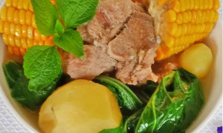 Pork Tinola with Sweet Corn and Potatoes