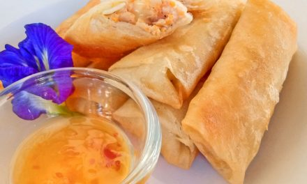 Cheesy Chicken Spring Rolls