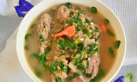 Mung Bean Soup with Pork (Ginisang Munggo)