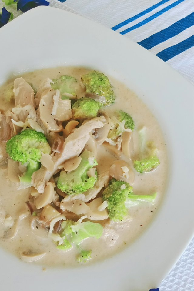 Chicken Broccoli with Mushroom, Mom Food Blog, Chicken Broccoli Recipe