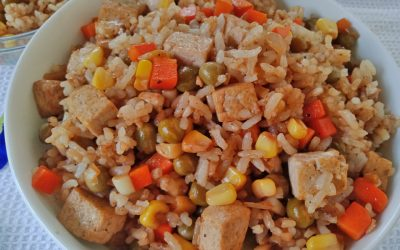 Vegetable Fried Rice (Vegan Fried Rice with Tofu)