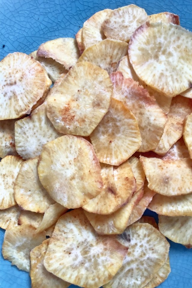 Air Fryer Sweet Potato Chips, Mom Food Blog