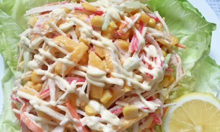 Kani Salad with Sweet Corn and Mango